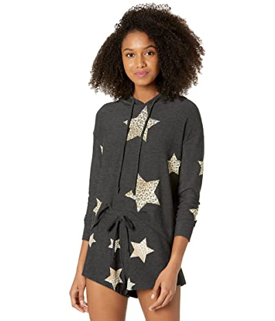 Chaser Animal Star Hoodie Recycled Cozy Knit Cropped Hoodie