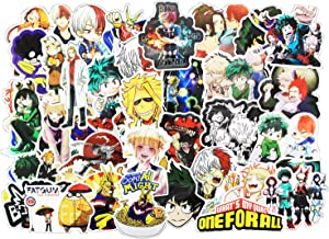 Anime Stickers 143 Pcs / Pack of My Hero Academia for Laptop Phone Travel Case Water Bottle Decoration Waterproof Vinyl Decals Patch for Skateboard Snowboard Comic Gift for Kids Teens Girls Boys - M