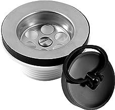 Cornat Afvoerventiel voor spoelbakken - 1 1/2 inch AG - met bijpassende ventieldop Ø 45,5 mm - Made in Germany kwaliteit /...