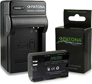 3en1 Cargador + Premium Batería LP-E6 LPE6 para Canon EOS 5D Mark II | EOS 5D Mark III | EOS 6D | EOS 7D | EOS 60D | EOS 60Da | EOS 70D