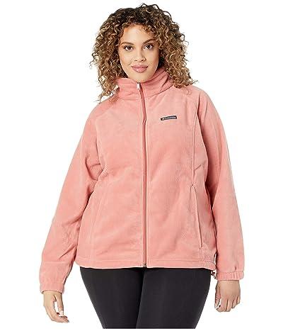 Columbia Plus Size Benton Springstm Full Zip (Dark Coral) Women
