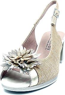 esFlores Para De Adorno Amazon Zapatos Tacón Mujer j543ARL