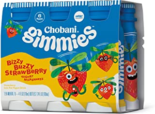 Chobani Gimmies Yogurt Milkshake, Bizzy Buzzy Strawberry 4oz, 6-pack