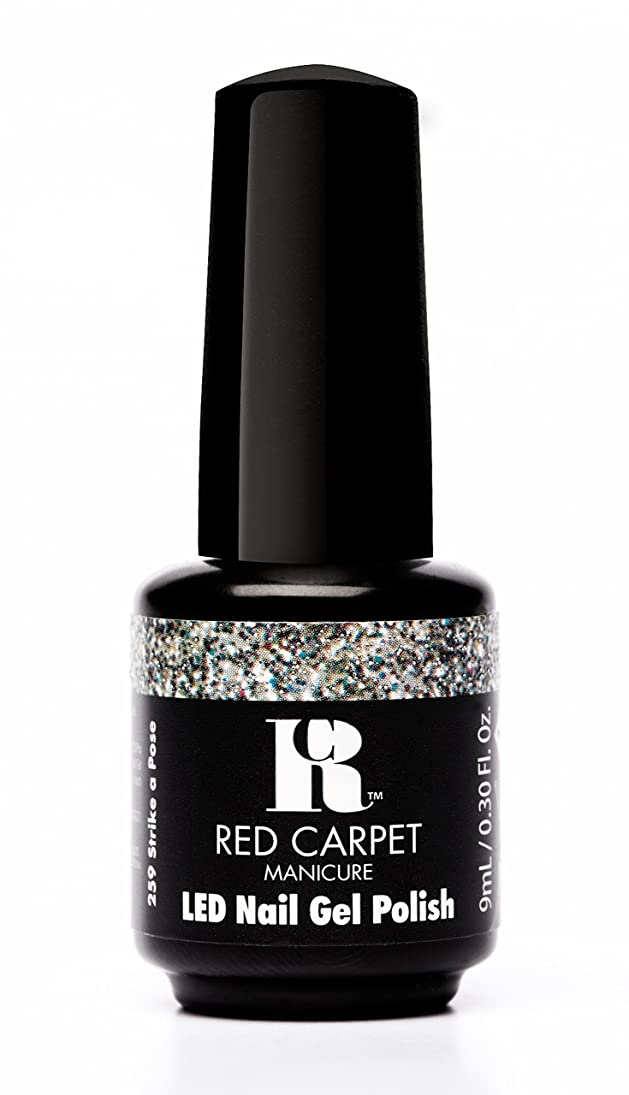 スキャンダラスアセンブリ懇願するRed Carpet Manicure - LED Nail Gel Polish - Trendz - Strike A Pose - 0.3oz / 9ml