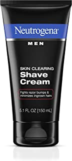 Neutrogena Men Skin Clearing Shave Cream, Oil-Free Shaving Cream to Help Prevent Razor Bumps & Ingrown Hairs, 5.1 fl. oz (Pack of 3)