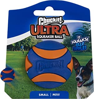 ChuckIt! Ultra Squeaker Ball, Small (2 Inch) 1 Pack
