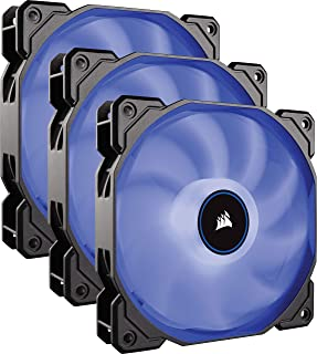Corsair AF120 LED, 120mm Low Noise Cooling Fan - Blue LED (Triple Pack)