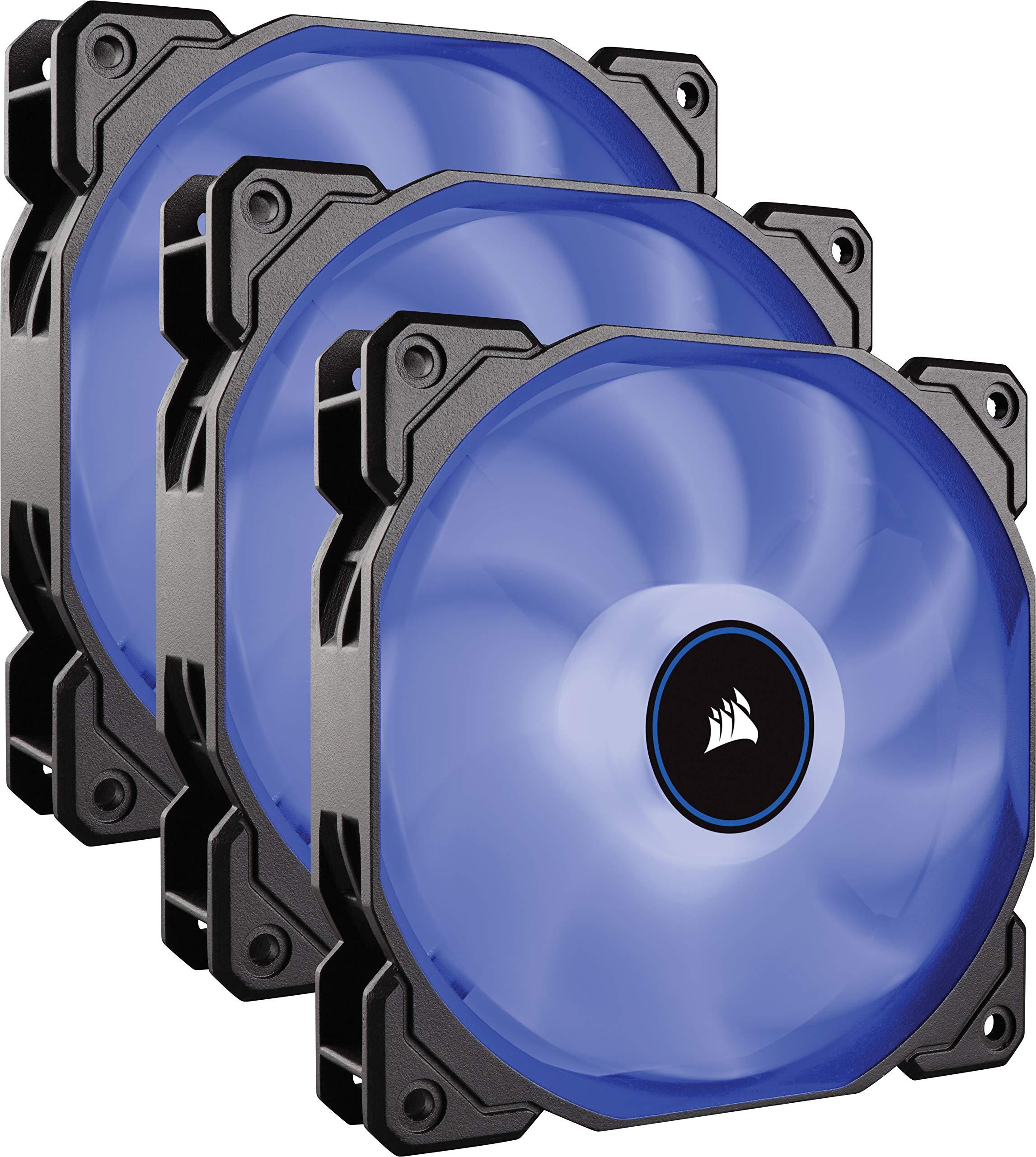 Corsair AF120, Air Series LED - Paquete de 3 Ventiladores de refrigeración silencioso de 120 mm, Color Azul: Amazon.es: Informática