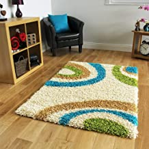 Good Price Premuim Shaggy Carpet for Living Room 6 Feet x 9 Feet (Ecru)