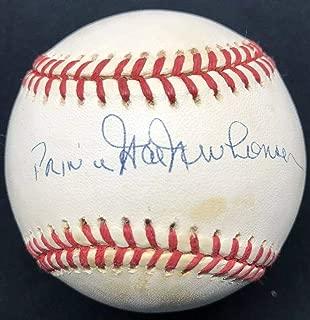 Hal Newhouser Autographed Baseball - Prince Nickname HOF - JSA Certified - Autographed Baseballs