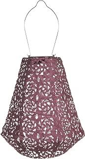 Allsop 31839 Soji Stella Prism LED Outdoor Solar Lantern, 11X10, Metallic Orchid