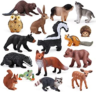 16pcs Forest Animals Baby Figures, Woodland Creatures Figurines, Miniature Toys Cake Toppers Cupcake Toppers Birthday Gift...