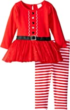 Youngland Baby Girls' Santa Suit Dress and Legging Set
