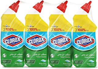 Clorox Disinfecting Toilet Bowl Cleaner Fresh Scent, 4 x 709 ml