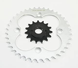 Race Driven OEM Replacement 15 Tooth Front & 38 Tooth Rear Silver Sprocket for Honda TRX400EX TRX 400 EX TRX400 400EX