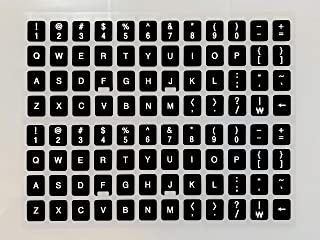 [2 Packs] Replacement Keyboard Stickers on Non Transparent Black Background for Any PC and Laptop