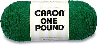 Caron  One Pound Solids Yarn - (4) Medium Gauge 100% Acrylic - 16 oz -  Kelly Green- For Crochet, Knitting & Crafting