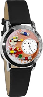 Whimsical Watches Women's S0410001 Artist Black Leather Watch