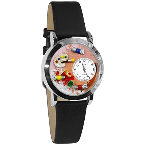 Whimsical Watches Womens S0410001 Artist Black Leather Watch