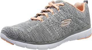 Skechers Flex Appeal 3.0-High Tides, Zapatillas Niñas, Gris, 35 EU