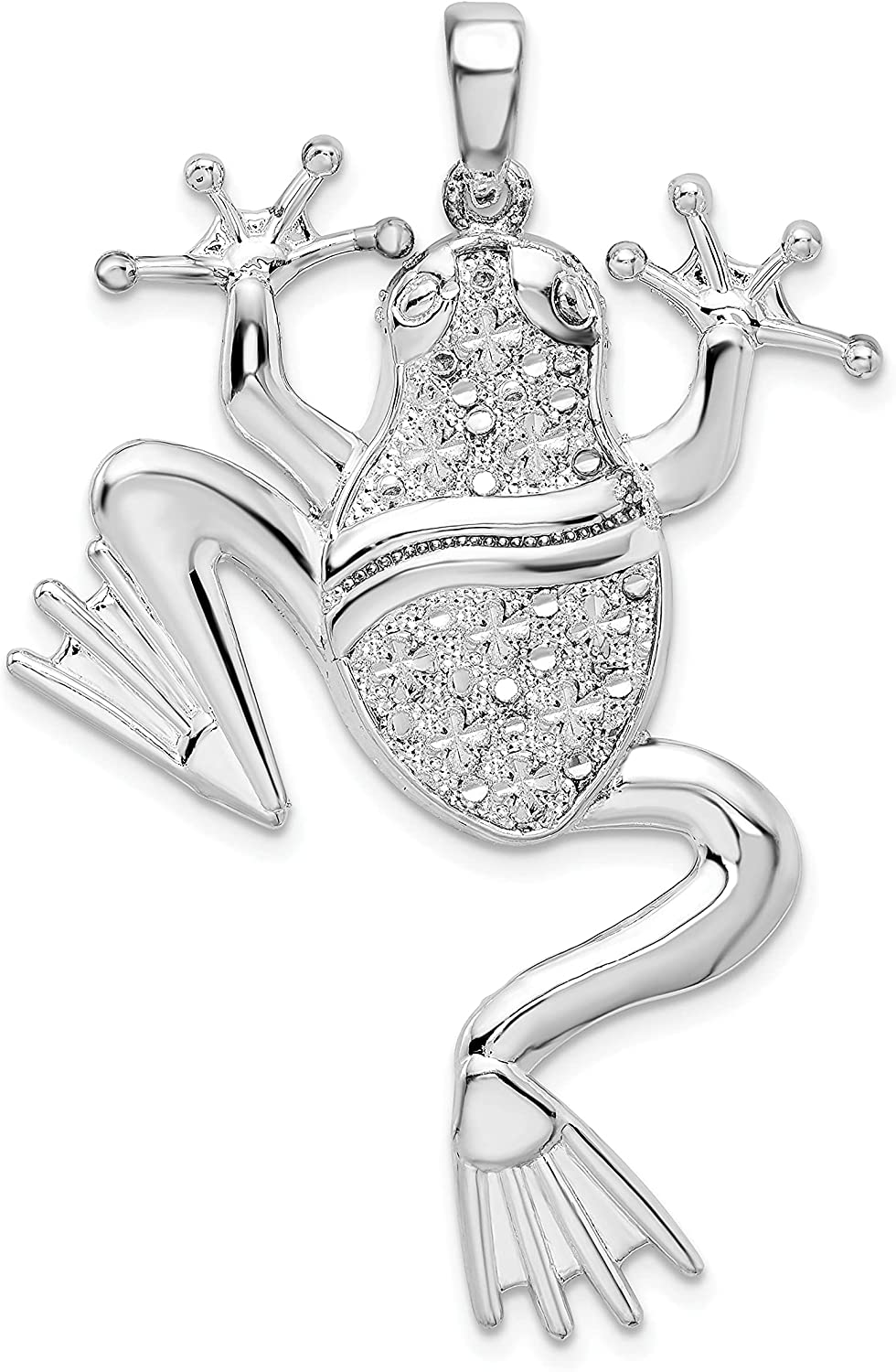 Million Charms 925 Sterling Many popular brands Animal Polished Pe Frog Large Charm All stores are sold