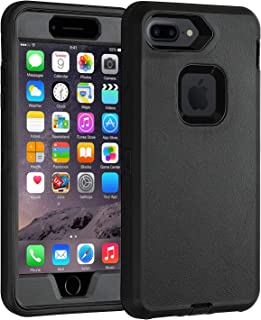 Case for iPhone 7 Plus/ 8 Plus Heavy Duty Co-Goldguard Armor 3 in 1 Built-in Screen Protector Rugged Cover Dust-Proof Shockproof Drop-Proof Shell Compatible with iPhone 7+/8+ 5.5