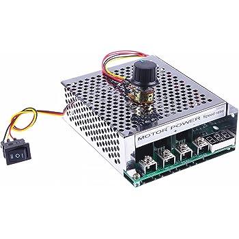 KNACRO Motor Speed Control Driver Board 9V-55V 40A 2000W PWM Controller DC 12V//24V//36V//48V Brush motor speed regulator DC motor modified parts