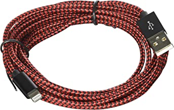 Xcords Lightning Cable 3Pack 10FT Extra Long Nylon Braided Cord iPhone Charger Compatible with iPhone 8 8Plus X 7 7 Plus 6 6S 6S Plus SE 5S 5 iPad iPod Nano 7(Red)