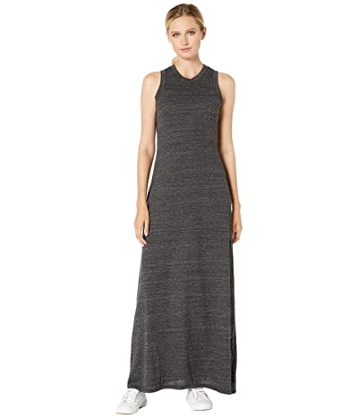 Alternative Eco-Jersey Side Slit Maxi Tank Dress (Eco Black) Women