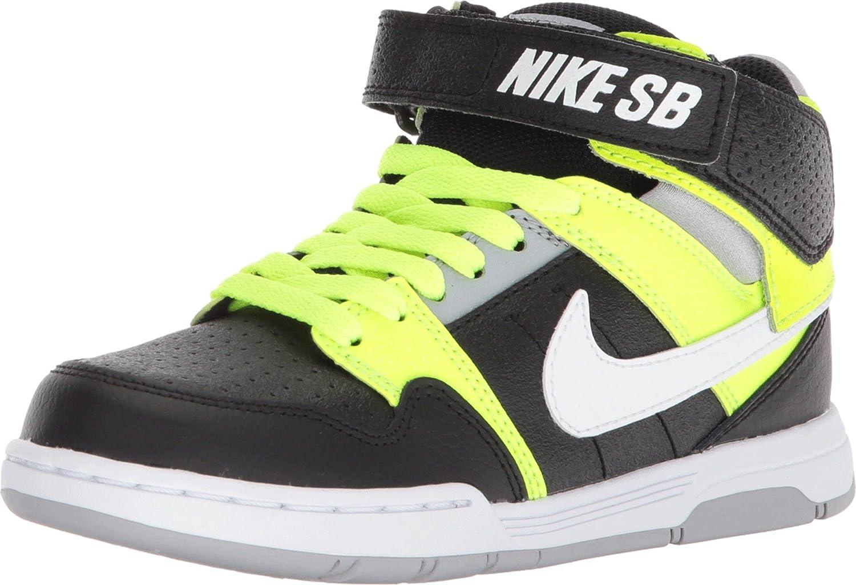 Azul la seguridad Triturado  Amazon.com | Nike Boy's SB, Mogan Mid 2 Jr GS Sneaker - Big Kid Black  Yellow 4 M | Sneakers
