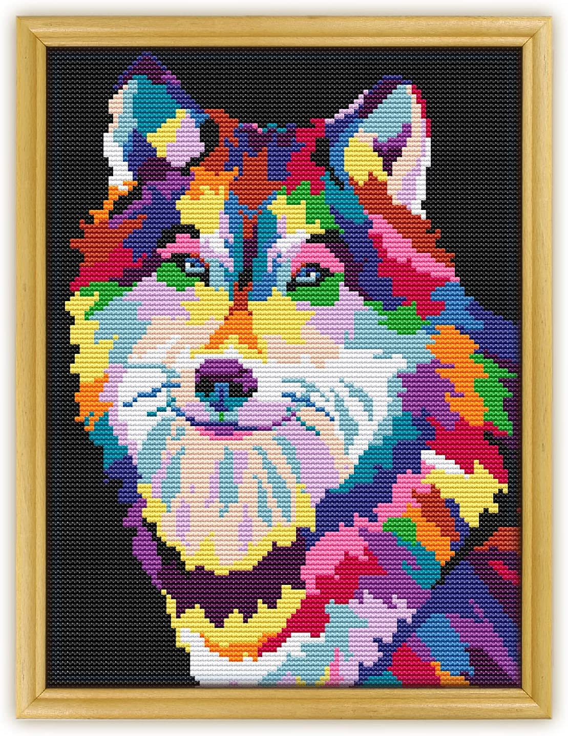 Wolf Abstract Animal K908 Counted Stitch Threads N Cross KIT#3. List price Los Angeles Mall