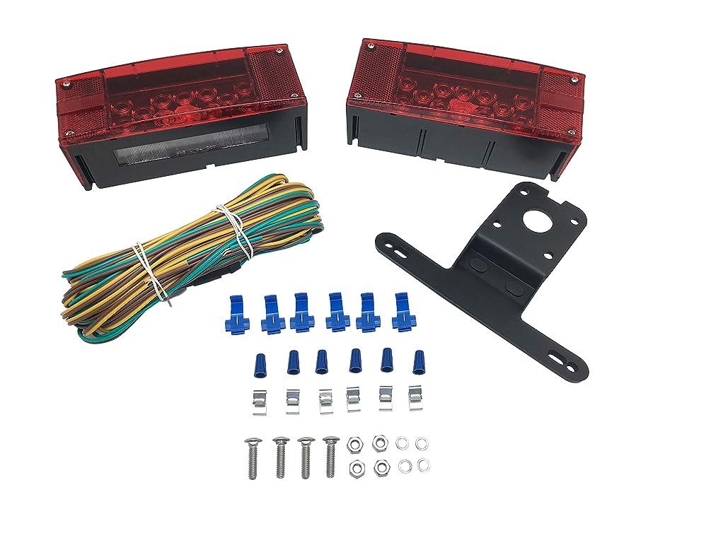 MaxxHaul 70468 12V LED Low Profile Submersible Rectangular Trailer Light Kit