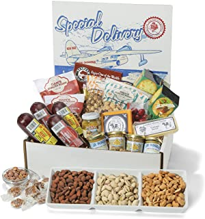 Dan the Sausageman's Special Delivery Box Featuring Gourmet Popcorns, Smoked Summer Sausage and Party Nut Tray and Wiscons...