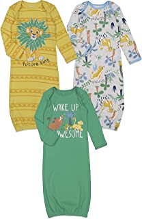 The Lion King Simba 3 Pack Swaddle Sleeper Gown Multicolored