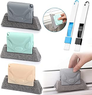 Magic Window Cleaning Brush, 5PCS Window Groove Cleaning Brush, Hand-held Crevice Cleaner Tools, Quickly Clean Crevice Too...