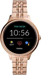 Women's Gen 5E 42mm Stainless Steel Touchscreen Smartwatch with Speaker, Heart Rate, Contactless Payments and Smartphone Notifications