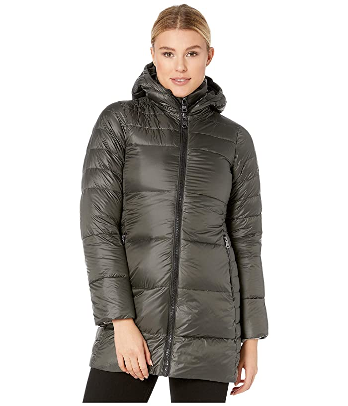 Vince Camuto Womens Thigh Length Heavy Weight Dowm Jacket with Hood