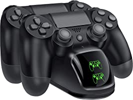 BEBONCOOL PS4 Controller Charger, DualShock 4 PS4 Controller USB Charging Station Dock, Playstation 4 Charging Station...