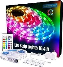 PANGTON VILLA Led Strip Lights 16.4 ft RGB 5050 Color Kit with 24 Key Remote Control and..