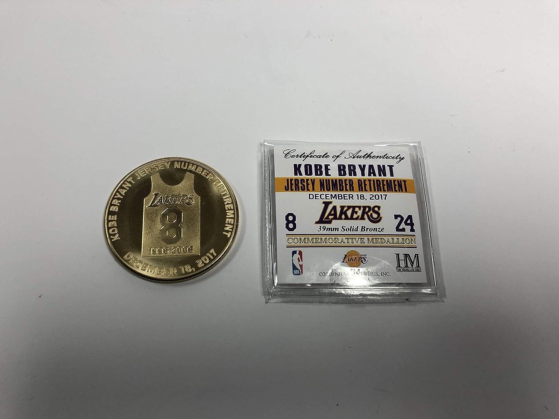 Kobe Bryant Jersey Number Retirement Commemorative Medallion Los ...
