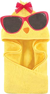 Hudson Baby Unisex Baby Cotton Animal Face Hooded Towel, Cool Chick, One Size