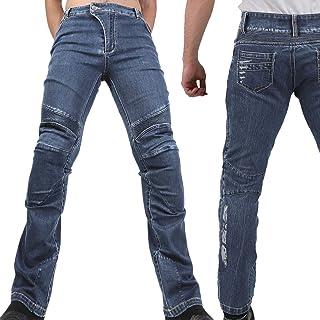 Motorradhose Jeans  Ranger  Leicht Dünn Herren Sommer Textil Jeanshose Slim Fit Motorrad Textilhose Männer Eng Stretch   schwarz   L