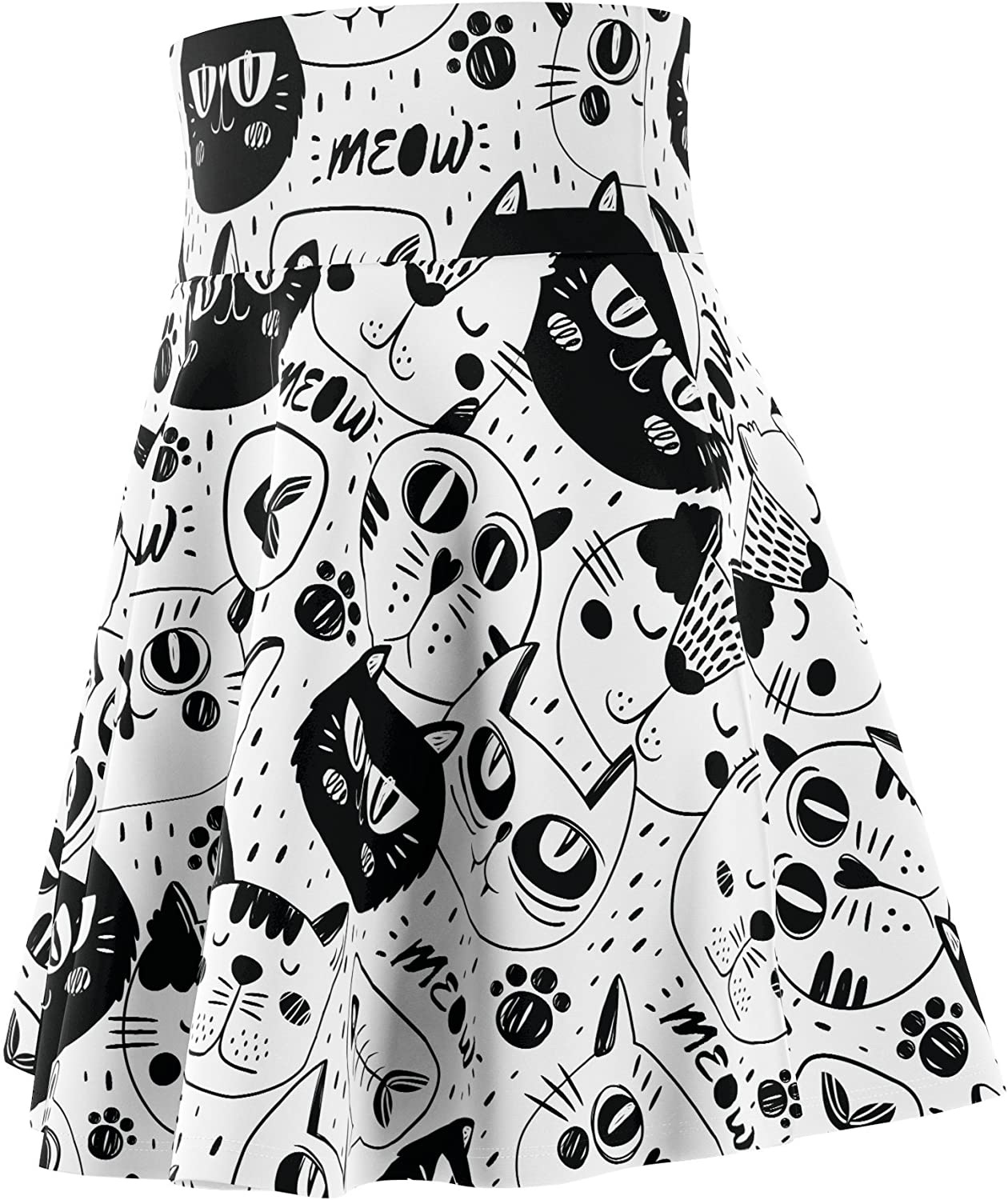 Lime Galaxy LimeGalaxy - Cat Women's Skater Casual Skirt