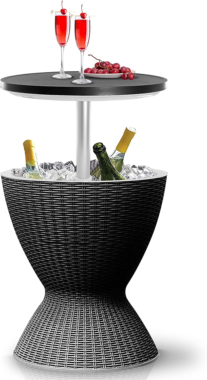 SereneLife Outdoor Bar Cooler Table-All-Weather a Sales results Virginia Beach Mall No. 1 Furniture Cool