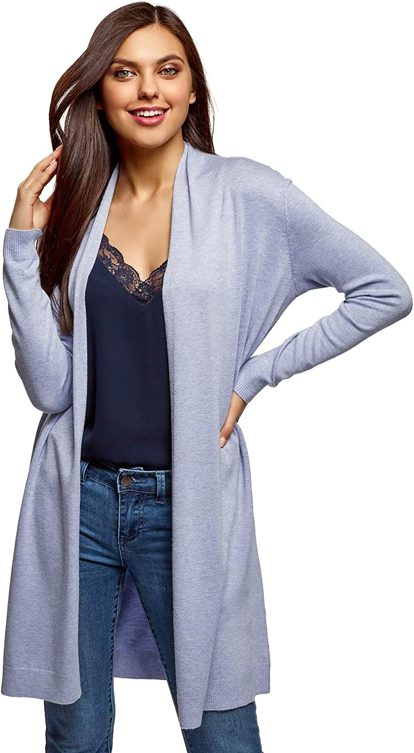 Oodji Collection Women's Long No Closure Cardigan