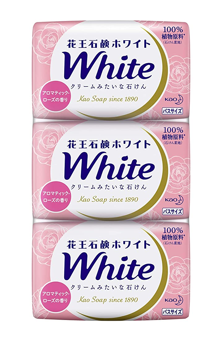 シェトランド諸島特異なうぬぼれ花王ホワイト アロマティックローズの香り バスサイズ 3コパック