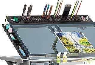 SD STUDIO DESIGNS Modern Premier Metal Tray for Art/Craft Table, 36 Inch, Black