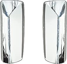 QSC Door Mirror Chrome Cover Set Left & Right for Volvo VNL Trucks
