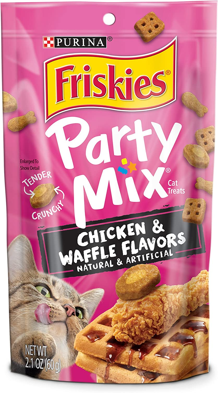 Purina Friskies 17184 Cat Treats, 2.1 oz, 10 Pouch