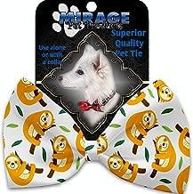 MiragePet Sleepy Sloths Pet Bow Tie Collar Accessory with Velcro